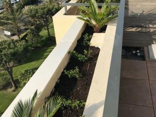 Jardinière sur balcon