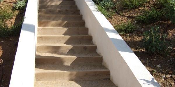 Garden staircase construction