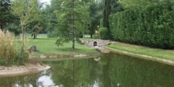Outside pond