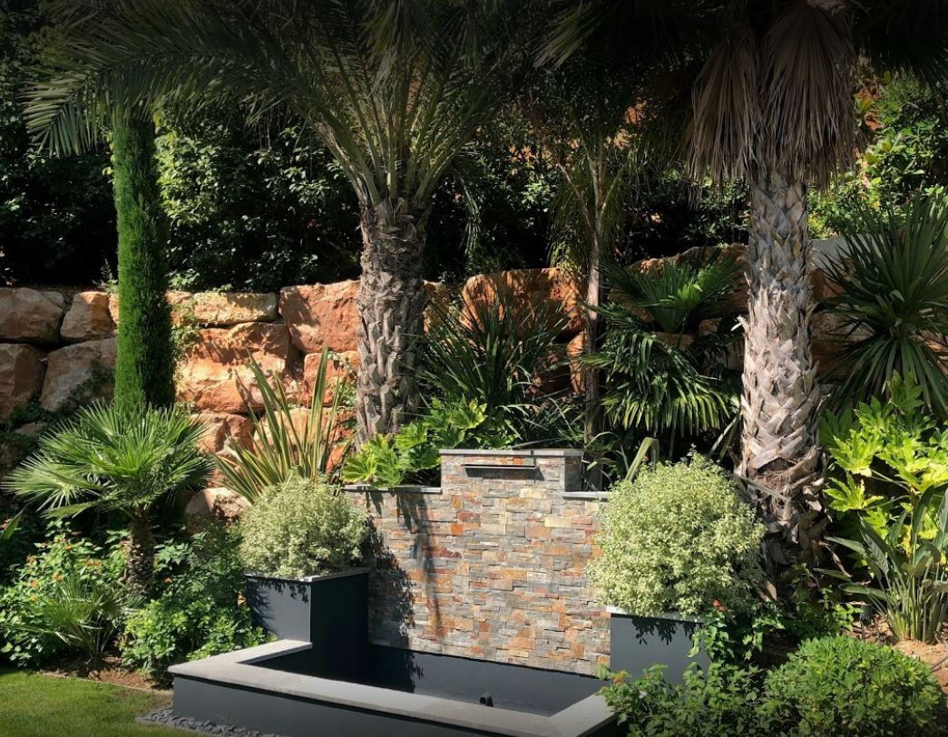 Fontaine creation Alpes Maritimes jardin - Exo Jardins - Theoule sur mer - Le Cannet - 06
