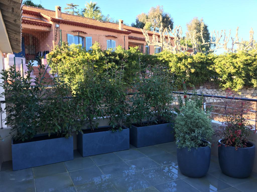 Terrasse - Aménagement jardinières sur terrasse - Alpes Maritimes - Var - Exo Jardins